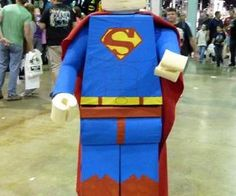 How to make superman minifigure costume.