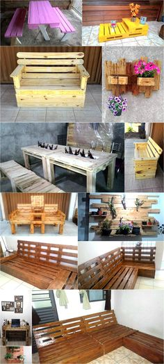 there are many known names in the field of pallet wood creations, for instance the creations that are being presented belong to Artede Paletes. They consist of multiple pallet wood creations especially related to the furniture items.