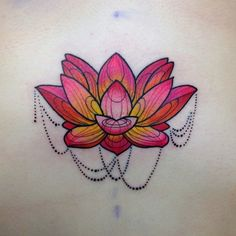 lotus by Katie Shocrylas, Vancouver, Canada | lotus flower tattoos