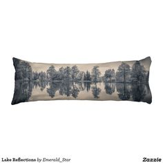 Shop Lake Reflections Body Pillow created by Emerald_Star. Panoramic Images, Pillow Fight, Reflection, Bed Pillows, Black And White, Pillows, Black White, Blanco Y Negro, Black N White