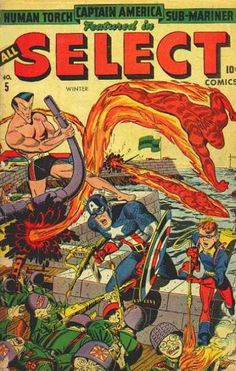 All Select Comics 5 Captain America, Sub-Mariner, Human Torch Timely Marvel Comics Golden Age Comic