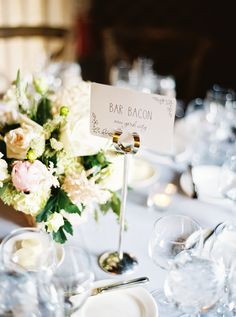 Table numbers are a perfect way to add your personalities into your reception! | #FearringtonWedding #FearringtonVillage | Photography by Graham Terhune