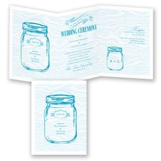 Country Canning Jar - Chocolate - Invitation