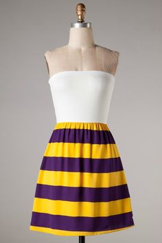 BEND AND SNAP Springville Purple Gold Game day dress Shop Simply Me Boutique SMB – Simply Me Boutique