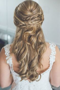 Bridal hair images by 9 braided hairstyles we you ll weddingwire. Winter Wedding Hair, Romantic Wedding Hair, Beach Wedding Hair, Wedding Hair And Makeup, Elegant Wedding, Hair Makeup, Wedding Hairstyles For Women, Bride Hairstyles, Summer Hairstyles