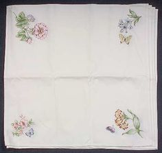 Lenox Butterfly Meadow Set of 4 Cloth Napkins
