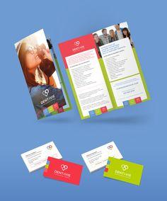 Dépliant, flyer, cartes d'affaires https://www.behance.net/gallery/58087263/Dentavie