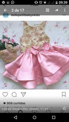 Toddler Girl Dresses, Little Girl Dresses, Girls Dresses, Flower Girl Dresses, Little Girl Fashion, Kids Fashion, Baby Frocks Designs, Kids Frocks, Sweet Dress
