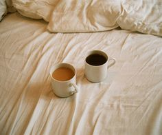 Coffee in bed. Perfect!