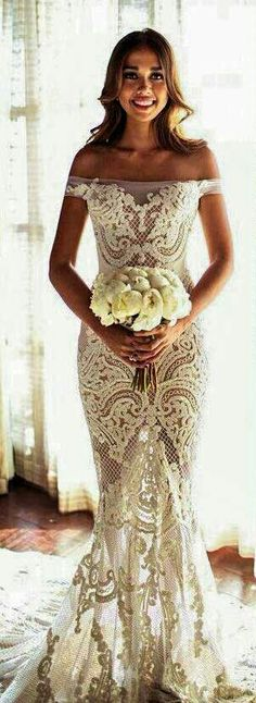 I don't love this style of dress but the detail is amazing