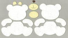 molde urso feltro - Pesquisa Google