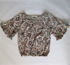 1970s ruffle sleeve blouse in a beautiful by afterglowvintage, $30.00