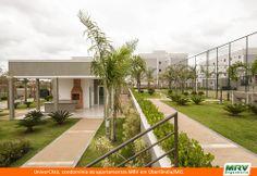 Paisagismo do Univercittá. Condomínio fechado de apartamentos localizado em Uberlândia / MG.
