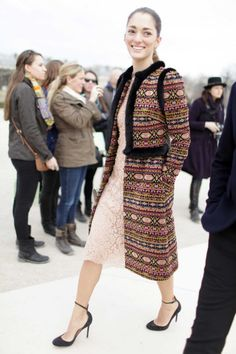 Who's that girl? The street style names to know.  Sofia Sanchez Barrenchea.
