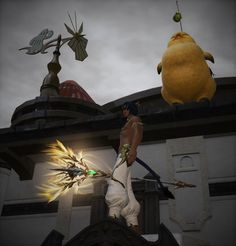 He's there... He's watching you... Fatty the stalking chocobo!