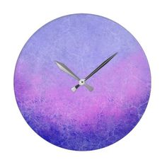 Textured Purple Ombre Large Clock ($30) ❤ liked on Polyvore featuring home, home decor, clocks, purple wall clock, purple clock, textured home decor, purple home decor and purple home accessories