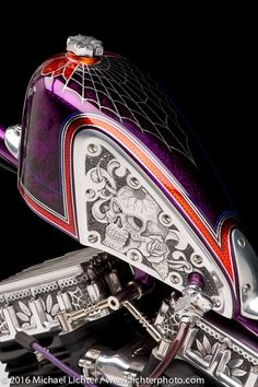Epic Firetruck's Motorcycle Paint - Forever Two Wheels USA ~ Michael Lichter Photography ~ - ℛℰ℘i ℕnℰD by Averson Automotive Group LLC Custom Motorcycle Paint Jobs, Custom Paint Jobs, Harley Davidson Knucklehead, Harley Davidson Bikes, Frankenstein Art, Paint Bike, Custom Tanks, Motorcycle Tank, Harley Bikes