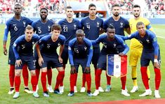 So hyped for the game! Rooting for France, but still hope the best for Croatia. Both France and Croatia have come a long way til this day, and hope the best for both teams. Paul Pogba, World Cup Teams, Fifa World Cup, Antoine Griezmann, Gareth Bale, Football Soccer, Football Players, Neymar, France National Football Team
