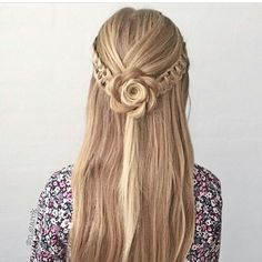 19 Super Easy Hairstyles for 2018 - Fazhion Braided Prom Hair, Braided Bun Hairstyles, Easy Hairstyles For Long Hair, Pretty Hairstyles, Girl Hairstyles, Wedding Hairstyles, Hairstyle Ideas, Hair Ideas, Pinterest Hair