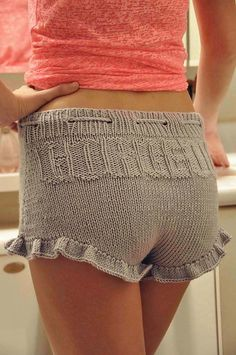 """Ravelry: """"Gorgeous Shorties"""" Ruffle Shorts with Drawstring pattern by Lauren Riker"""