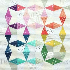 I love the way that she switched the fabric placement and did a different take on a traditional kaleidoscope quilt block!