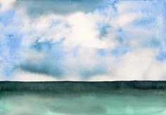 Lovely watercolor- reminds me of the beach. By carianne mack garside