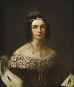 Queen Josephine of Sweden,1833 - portrait by Fredrik Westin (1782-1862)