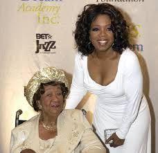 Dorothy Height and Oprah Winfrey.  History helps to shape history.  Amazing.  Via heavy.com