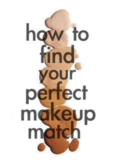 Repinned:  How to find your perfect makeup match