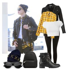 """""""JIMIN's Airport Fashion Inspired Outfit"""" by alexa-garcya ❤ liked on Polyvore featuring IRO, Topshop, Helmut Lang, MANGO, bts, jimin and parkjimin"""