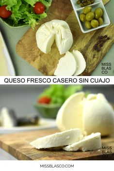 Cheese Recipes, Real Food Recipes, Charcuterie, Queso Fresco Recipe, Cheese Maker, Curry, Homemade Cheese, Spanish Food, Yogurt