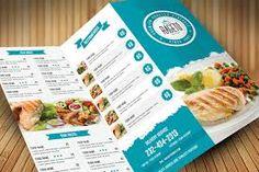 Clean Food Menu by on Creative Market Menue Design, Food Menu Design, Restaurant Menu Design, Restaurant Recipes, Badge Design, Label Design, Graphic Design, Brochure Design, Brochure Template