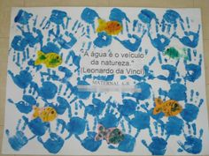 mensagem dia da agua infantil Waldorf Montessori, Diagram, Clip Art, Teaching, Professor, Mini, Ideas, Infant Activities, Paper Dahlia