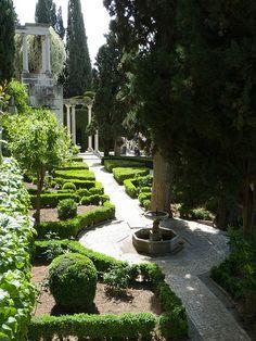 Garden of the Carmen Blanco in Granada, home of the Fundacion Rodriguez-Acosta