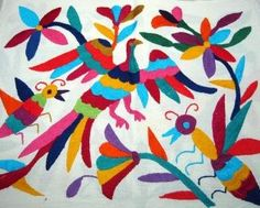 Otomi fabric - all embroidered!  I really want to make a headboard out of this one...