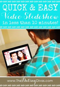 Create a stunning video slideshow in less than 10 minutes? Yes please! I am totally making one tonight! www.TheDatingDivas.com Photo Slideshow With Music, Slideshow Music, Vow Renewal Ceremony, Anniversary Dates, Wedding Anniversary, Dating Divas, Easy Video, Text Quotes, Making Memories