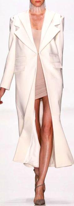 Long coat over short dress - heavenly style statement
