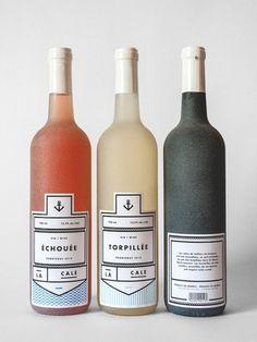 カナダのデザイナーによって作られたこちらのワインボトル。 なんともオシャレなフレンチテイストのラベル。
