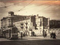 Okupowana Warszawa 1940 r. . - Krakowskie Przedmieście