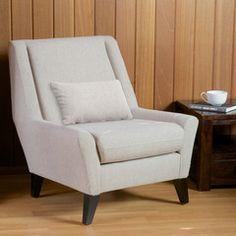 Zarah Beige Fabric Accent Chair