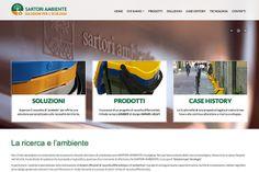 Ideazione e sviluppo sito vetrina Gruppo Sartori Ambiente. http://www.sartori-ambiente.com/