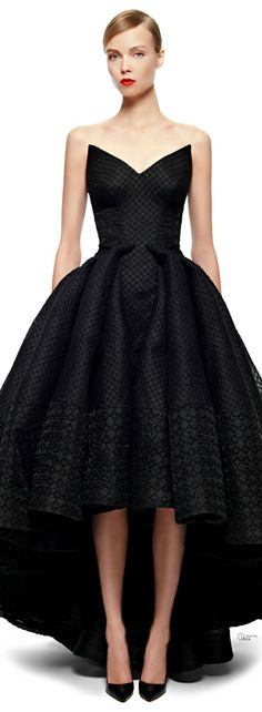 Zac Posen FW 2014-15 - Gorgeous! Would love this is jet black satin