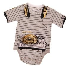 Underground DJ Wave Bodysuit-mini shatsu, bodysuit, onsie, undergound dj, music, trendy, baby boutique, boy, baby shower gift