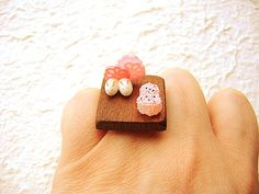 Kawaii Japanese Food Ring Miniature Food by SouZouCreations, $18.50