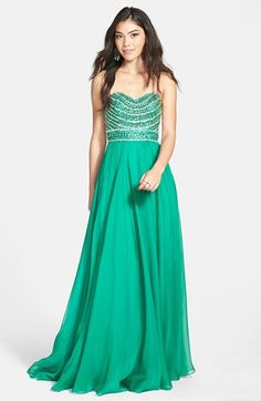 Sherri Hill Embellished Strapless Gown available at #Nordstrom