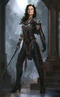 """Concept art of Lady Sif from Marvel's """"Thor: The Dark World"""". Marvel Dc, Marvel Heroes, Fantasy Women, Fantasy Girl, Fantasy Characters, Female Characters, Cyberpunk, Lady Sif, Lady Thor"""