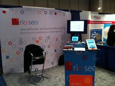 Rio SEO booth at SMX East 2012 with full line of Automation Software Products