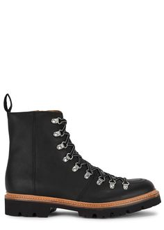 Brady black leather hiking boots Leather Hiking Boots, Goodyear Welt, Comfy Shoes, Saved Items, Shopping Bag, Black Leather, Lace Up, Ankle, Stylish