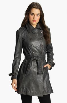 Bod & Christensen Double Breasted Leather Trench Coat available at #Nordstrom...wow!