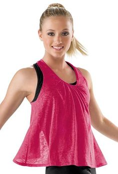 Open Back Burnout Dance Tank; Urban Groove In black size medium Dance Wear Solutions, Dance Tops, Team Wear, Dance Fashion, Fitness Fashion, Fitness Style, Dance Outfits, Athletic Tank Tops, Athletic Wear